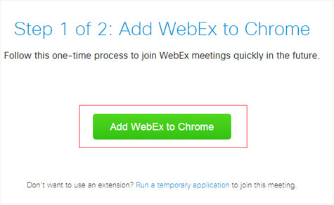 add webex to browser