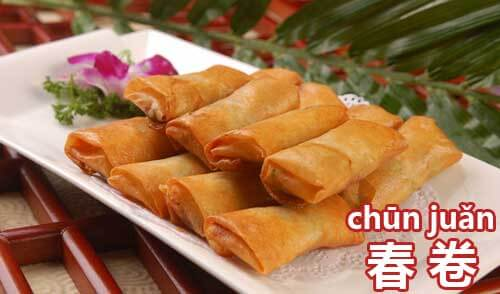 Chinese New Year Food-Spring Rolls